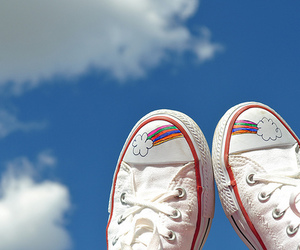 rainbow, shoes, and cute image