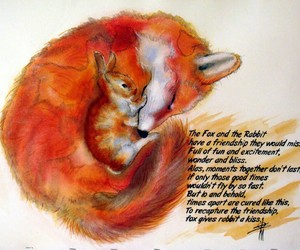 fox, friend, and quote image