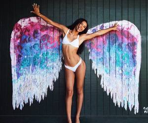 wings, girl, and angel image