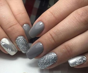 cute and nails silver image