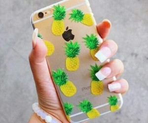 iphone, pineapple, and case image