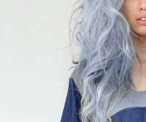 hair, pastel, and blue image