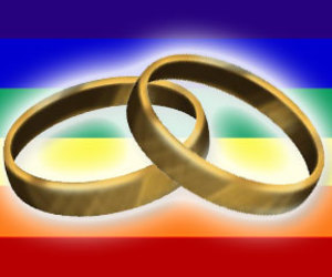 gay, marriage, and rainbow image