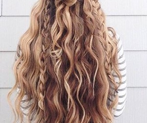 curls, hair, and straight image