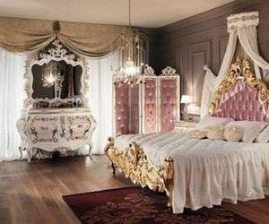 bedroom, pink, and princess image