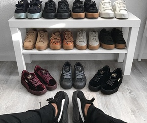 girl, shoes, and puma image