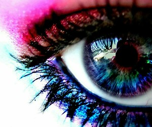 eye, eyes, and colorful image