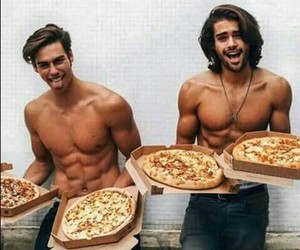 pizza, boy, and Hot image