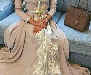 caftan, dress, and hijab image