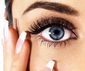 nails, eyes, and blue image