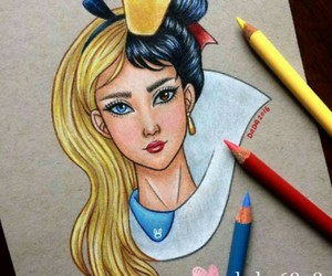 alice, disney, and draw image
