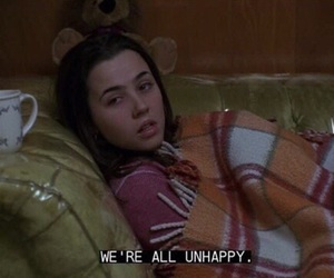 freaks and geeks, unhappy, and grunge image