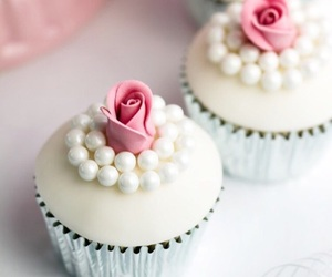 cupcake, pearls, and cute image