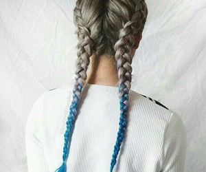 hair, braid, and blue image