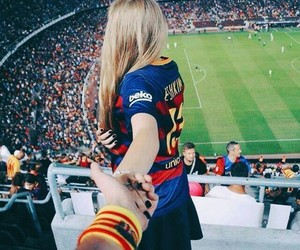 football and couple image