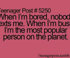 text, busy, and teenager post image