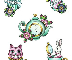 alice in wonderland, tea cup, and cute image