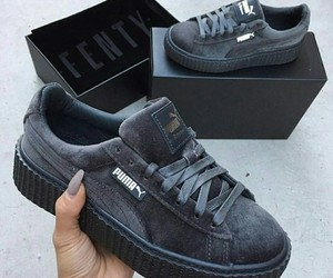 puma, grey, and sneakers image