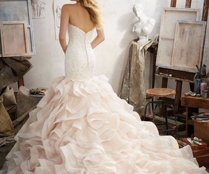 blonde, gorgeous, and bride dress image