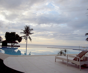 infinity pool, summer, and swimming pool image