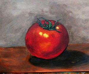 painting, tomato, and stilllife image