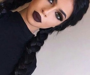 makeup, hair, and braid image