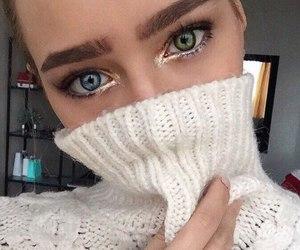 girl, luxury, and makeup image