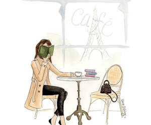 ballet flats, coffee, and books image