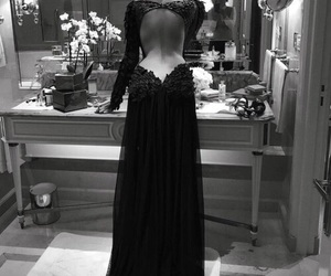 dress, black, and beauty image
