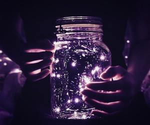 light, purple, and night image