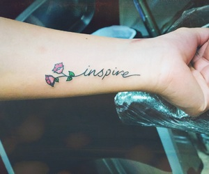 tattoo, flower, and inspire image