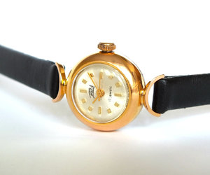 etsy, gold plated watch, and montre femme image