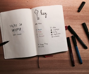 key, planner, and quote image