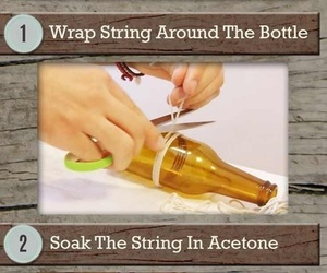 bottle, crafts, and decor image
