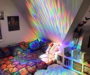 room, rainbow, and bedroom image