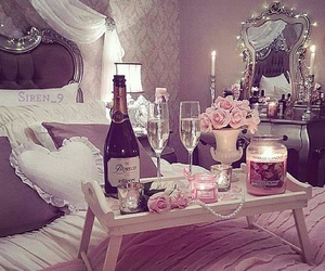 pink, champagne, and romantic image