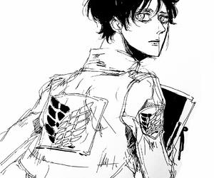 beautiful, black & white, and boy image