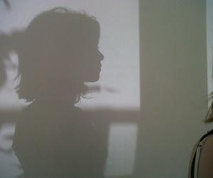 girl, shadow, and grunge image