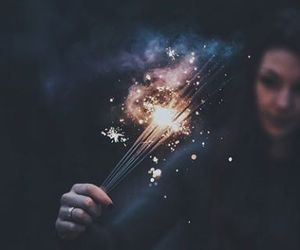 light, photography, and sparks image
