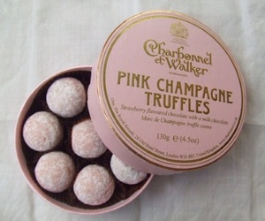 pink, truffles, and champagne image