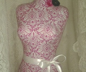 dress form, pink, and vintage image
