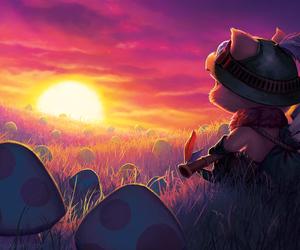 teemo, league of legends, and mushroom image