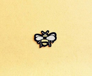 bee, yellow, and patch image