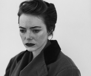 emma stone, actress, and black and white image