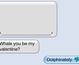 valentine, whale, and funny image