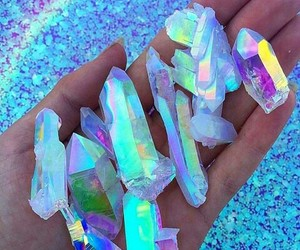 crystal, rainbow, and blue image