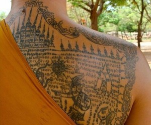 monk and tattoo image