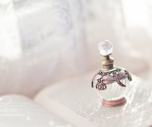 perfume, book, and pink image