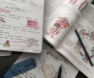 study, biology, and books image