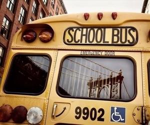 school, bus, and school bus image